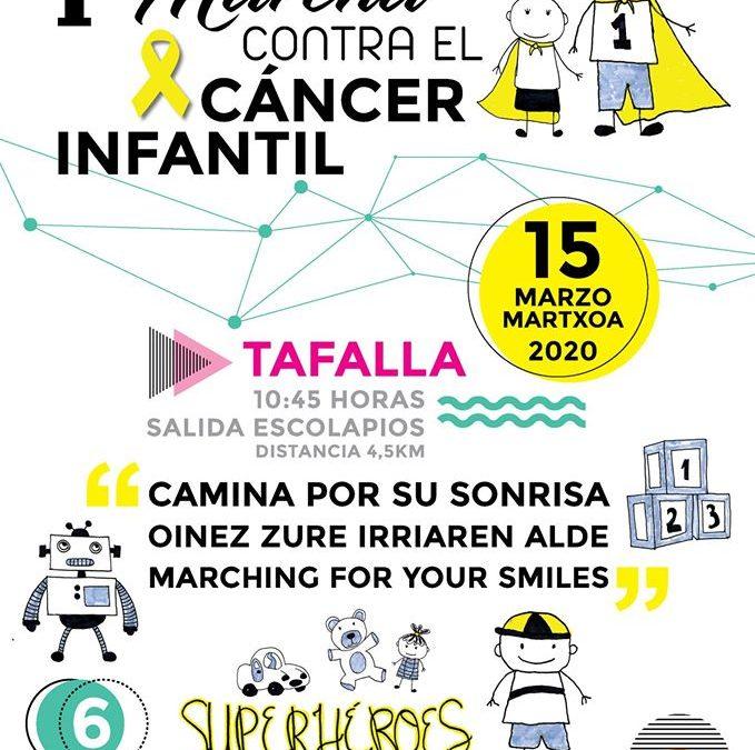 I Marcha contra el Cáncer en Tafalla 15 de marzo 2020